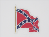 CONFEDERATE REBEL FLAG WAVEY 3D EFFECT FRIDGE MAGNET